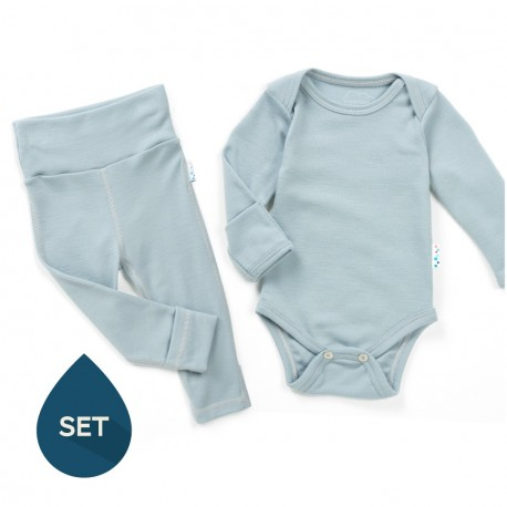 Set strat de bază bebe 100% merinos, Superlove - Cloud Grey