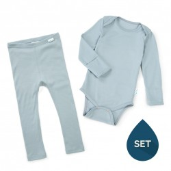 Set de haine strat de bază toddler 100% merinos, Superlove - Cloud Grey