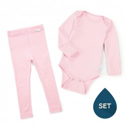 Set de haine strat de bază toddler 100% merinos, Superlove - Blush pink