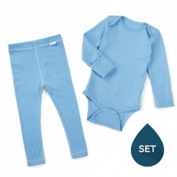 Set de haine strat de bază toddler 100% merinos, Superlove - Sky blue