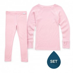 Set strat de bază junior 100% merinos, Superlove - Blush Pink