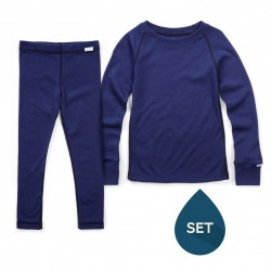 Set strat de bază junior 100% merinos, Superlove - French navy